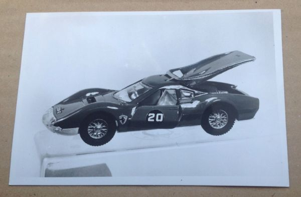 "Dinky Toys Liverpool original Press Photograph Dinky 216 ""Dino Ferrari"""